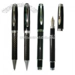 Carbon Fiber Roller Pen with Brass Upper and Carbon Fiber Lower Barrel