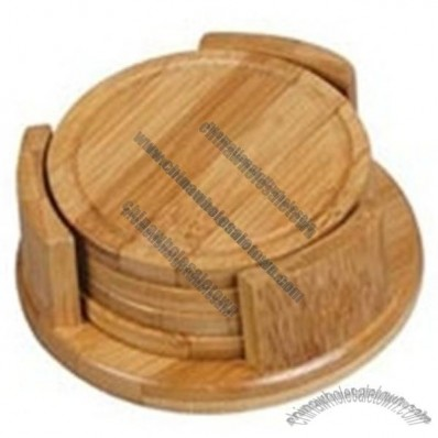 Carbonized Bamboo Coaster Set - 4 pieces