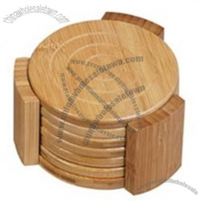Carbonized Bamboo Coaster Set - 6 pieces
