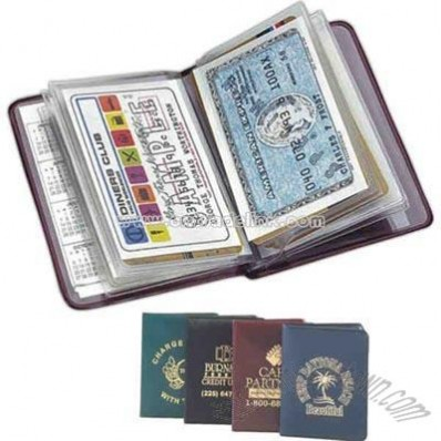 Card case holds twelve credit cards in a slim-line wallet