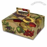 Cardboard Gift Box with Paper Handle, Fruit Bowl Style