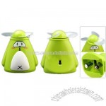 Cartoon Animal Green Pocket Personal Battery Powered Summer Mini Fan