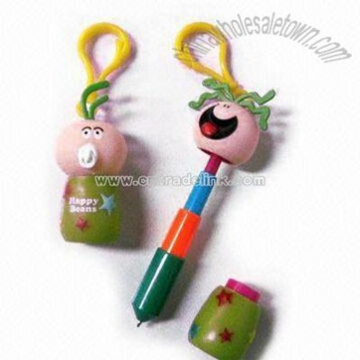 Cartoon Ballpoint Pen with Strap