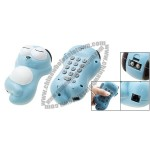 Cartoon Dog Home Telephone Simple Phone Blue and White