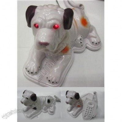 Cartoon Dog Shaped Plastic & PVC Home Decor Corded Telephones