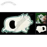 Cartoon Fat Pig Piggy Beer Beverage Bottle Opener White and Green