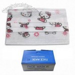 Cartoon Printing Face Mask with Easy Elastic Ear Loop and Nose Wire