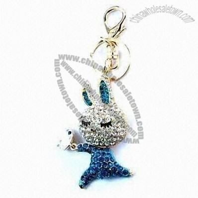 Cartoon Rhinestone keychains
