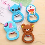 Cartoon Silicone Bottle Opener With Fridge Magnet