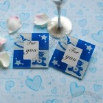Cartoon Square Glass Coasters Set Favor