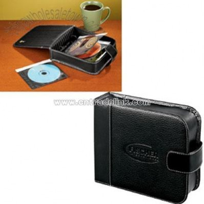 Case Logic Pro DVD/CD Leather Desk Organizer - Black