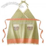 Casual Home Plaid Full Apron - Green