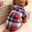 Casual Plaid Pet Clothes