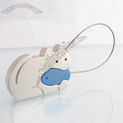 Cat Cable Key Ring