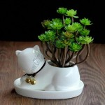 Cat Ceramic Succulent Planter Flower Pot