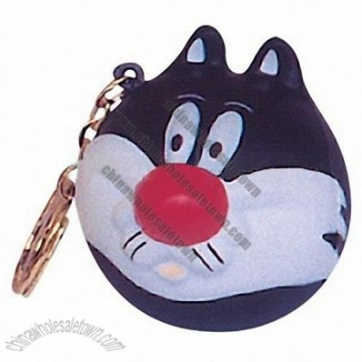 Cat Keyring Stress Shape
