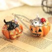 Cat Pumpkin Halloween Jewelry Box
