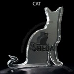 Cat Shaped Acrylic Award
