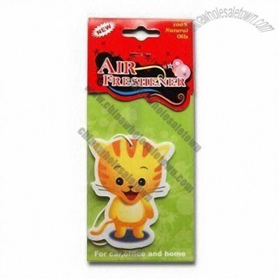 Cat Shaped Paper Air Freshener/Perfume