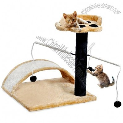 Cat Tree with Scratching Post & Toys