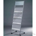 Catalogue Shelf - Iron Brochure Holder With Wheels
