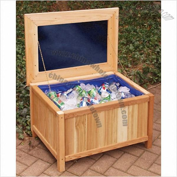 Cedar Creek Cedar Storage Bench Ice Chest With Cushion Top Wooden