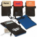 Cell Phone Pouch w/ Carabiner and Logo Imprint