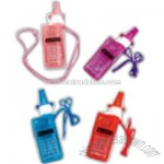 Cell phone bubble necklace whistle