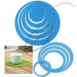 Centrifugal Round Insulation Silicone Coasters