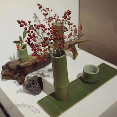Ceramic Bamboo Shaped Vase