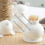 Ceramic Bear ToothPick Holder
