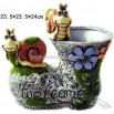 Ceramic Boot Animal Flower Pot