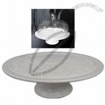Ceramic Cake Stand with Embossed Design