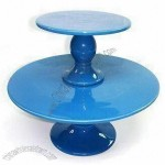 Ceramic Cake Stand with Glaze