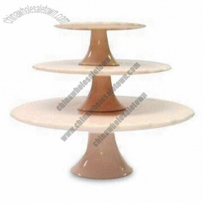 Ceramic Cake Stand with Pink Color