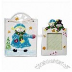 Ceramic Christmas Plaque and Photo Frame