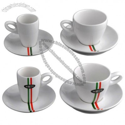 Ceramic Coffee Cup With Saucer Set