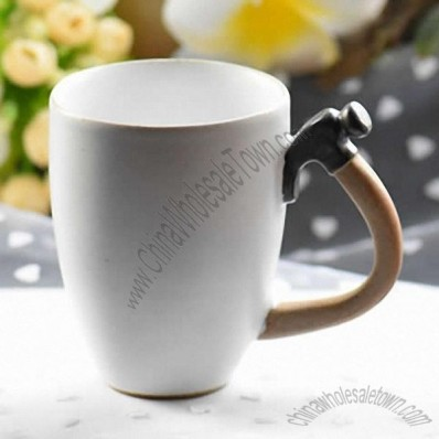 Ceramic Coffee Mug with Hammer Handle