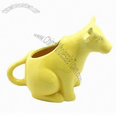 Ceramic Creamer In Cattle Shape, Made Of Stoneware