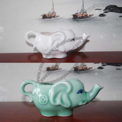 Ceramic Elephant Shaped Teapot