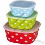 Ceramic Food Containers with Plastic Lid