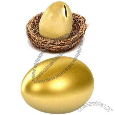 Ceramic Golden Egg Money Box Coin Bank