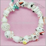 Ceramic Pearls Crystal Bracelet
