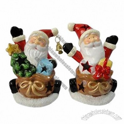 Ceramic Santa Decorations