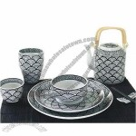 Ceramic Table Ware in Black and White