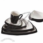 Ceramic Tableware, Black Glazed, For Hotel Restaurant Serving And Home Dinner