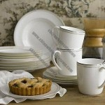 Ceramic Tableware Set for Hotels, Restaurant Fruit Servings and Home Dining, White Porcelain