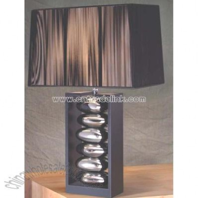 Ceramic and wood base Table Lamp