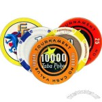 Ceramic poker chips made just like the real chips used in casinos. 8 Grams