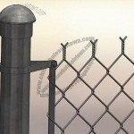 Chain-link Fence, Comes with PVC Coating or Galvanized Finish